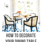 dining table decorate