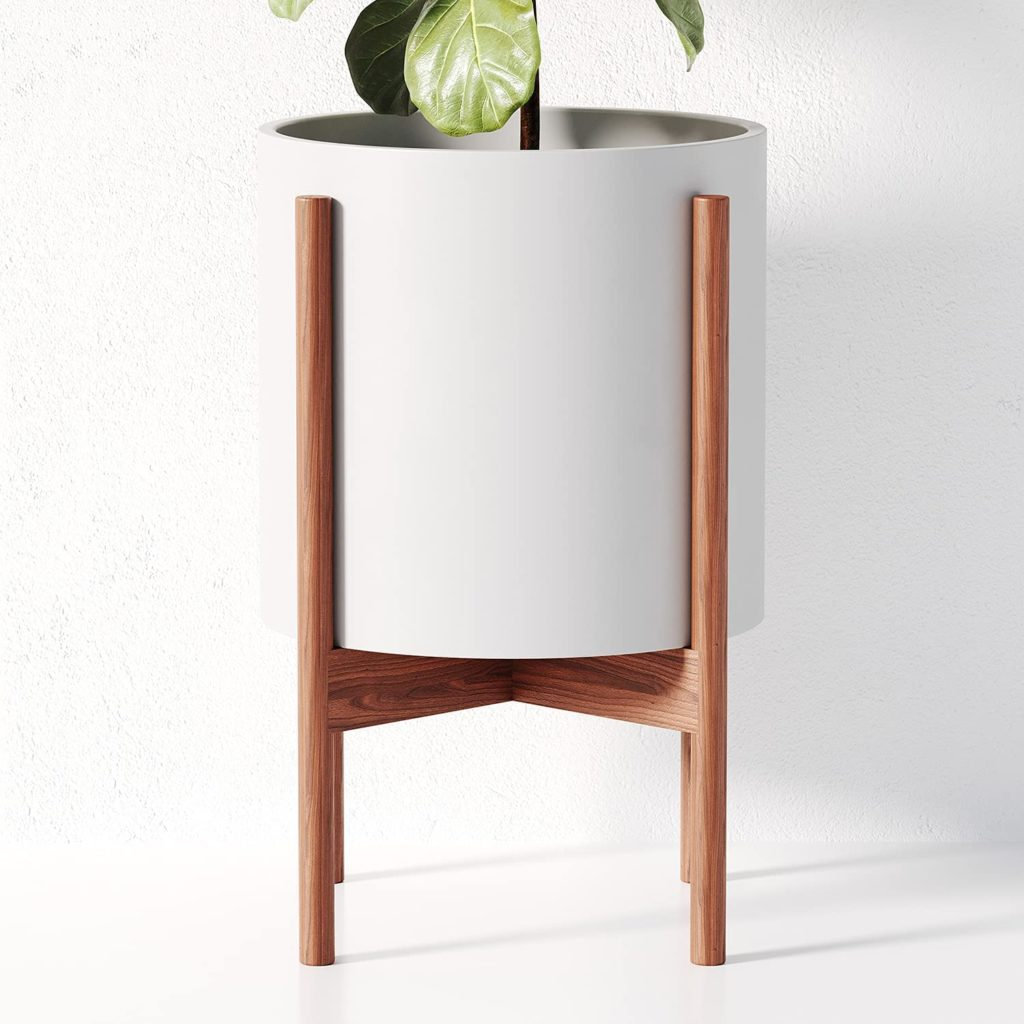 Mid-Century-Planter-and-Stand